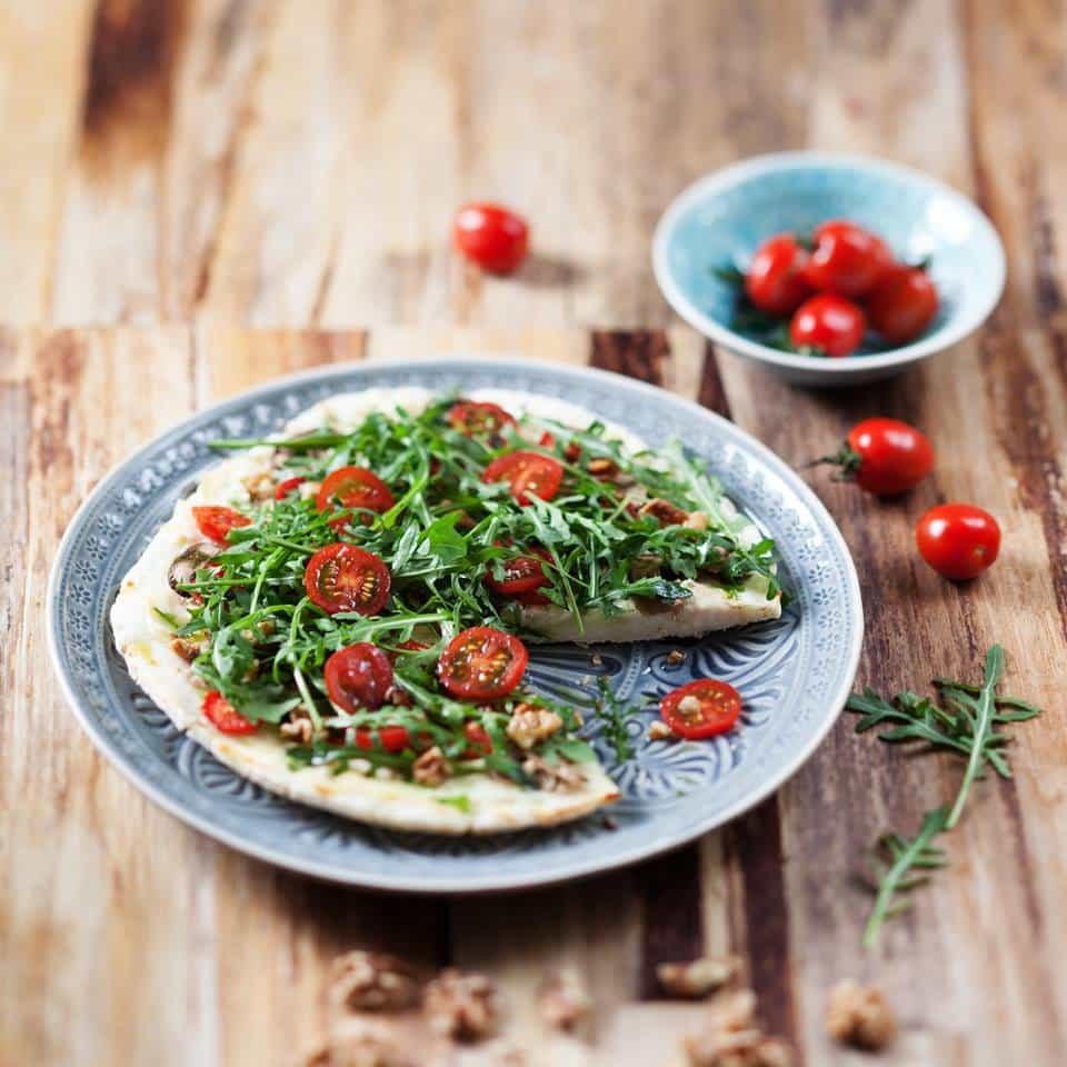 Rucola-Walnuss-Pizza